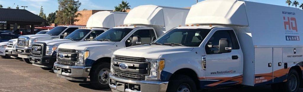 RestorationHQ Service Truck fleet